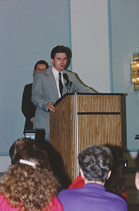 Terry accepting award for Single of the Year Image